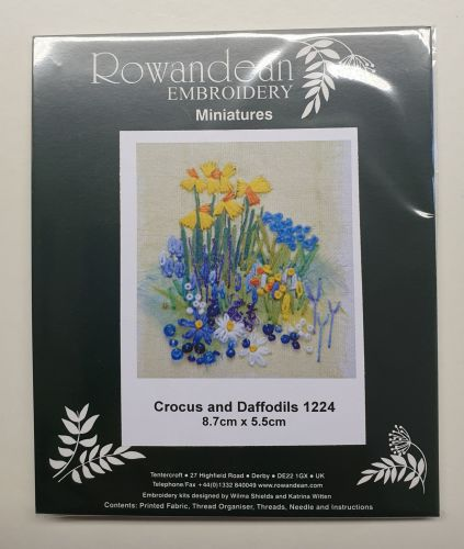 <!--9925 -->Rowandean Embroidery Kit - Crocus and Daffodils 1224 (with bea