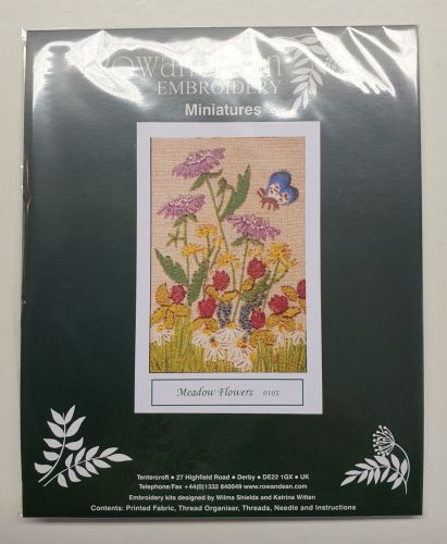 <!--9927 -->Rowandean Embroidery Kit - Meadow Flowers 0105