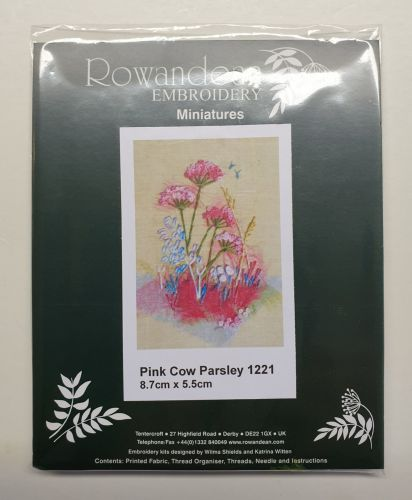 <!--9928 -->Rowandean Embroidery Kit - Pink Cow Parsley 1221