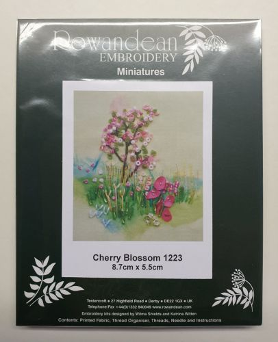 <!--9930 -->Rowandean Embroidery Kit - Cherry Blossom 1223 (with beaded de