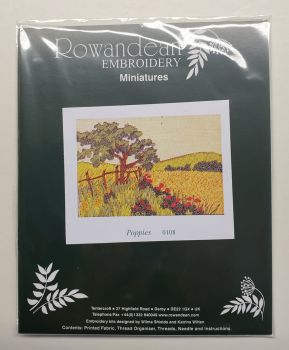 Rowandean Embroidery Kit - Poppies