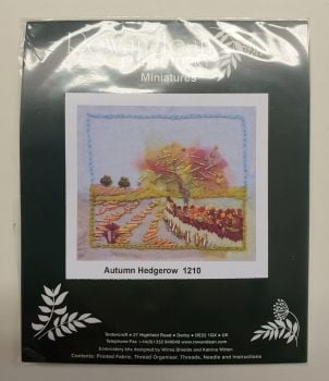 Rowandean Embroidery Kit - Autumn Hedgerow 1210 (with beaded detail)