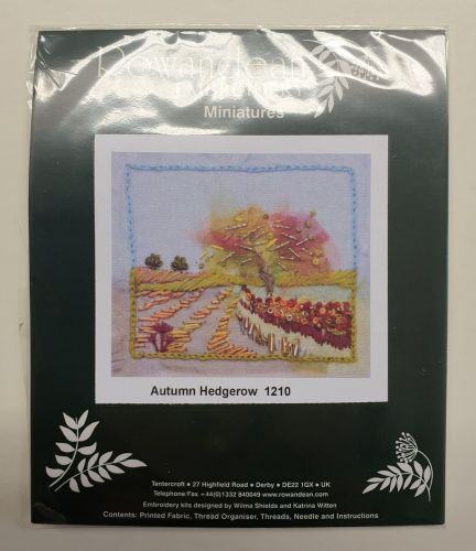<!--9933 -->Rowandean Embroidery Kit - Autumn Hedgerow 1210 (with beaded d