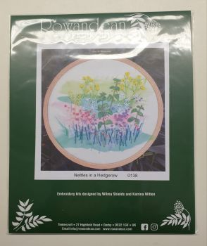 Rowandean Embroidery Kit - Nettles in a Hedgerow 0138 (with beaded detail)