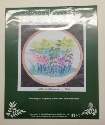 <!--9936 -->Rowandean Embroidery Kit - Nettles in a Hedgerow 0138 (with be