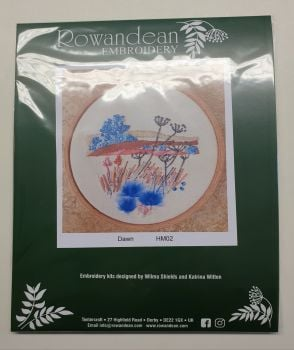 "Rowandean Embroidery Kit INC 5"" HOOP - Dawn HM02 (with beaded detail)"