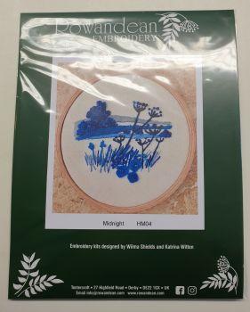 "Rowandean Embroidery Kit INC 5"" HOOP - Midnight HM04 (with beaded detail)"