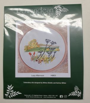 "Rowandean Embroidery Kit INC 5"" HOOP - Lazy Afternoon HM03 (with beaded detail)"