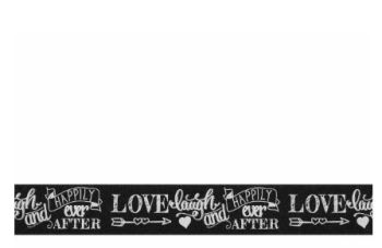 Berifords Chalkboard Charm Happily Ever After Ribbon (14766) 25mm, per metre