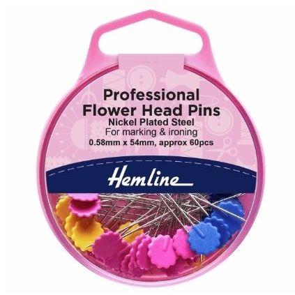 <!--   003 -->Hemline Flower/Flat Head Pins - 0.58 x 54mm: