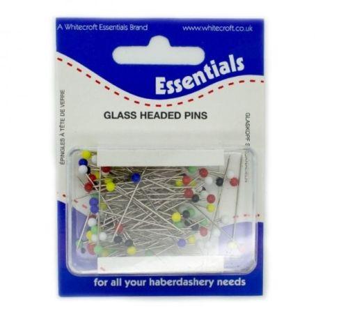 <!--   002 -->Glass Head Pins - 30 x 0.6mm