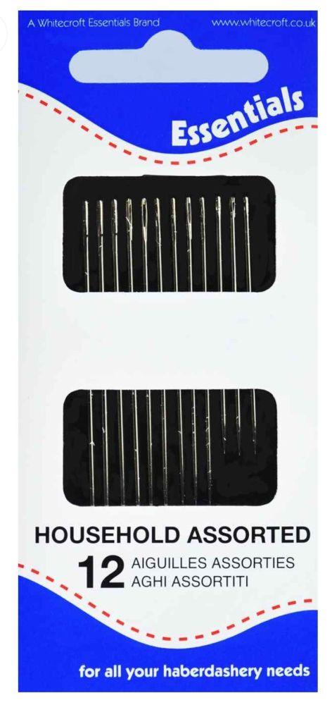 <!--   006 -->Household Needles - Assorted x 12