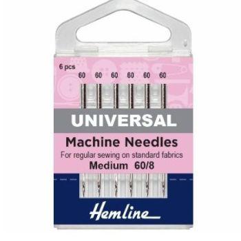 Hemline Sewing Machine Needles - Universal - Extra Fine 60/8