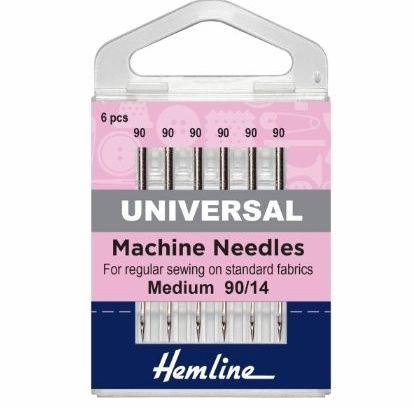 <!--   012 -->Hemline Sewing Machine Needles - Universal - Medium/Heavy 90