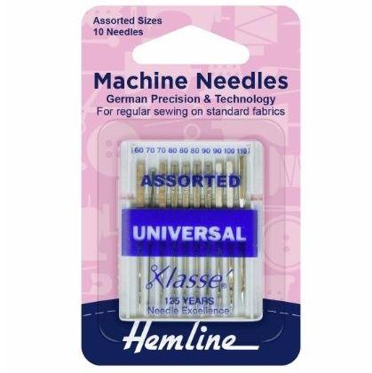 <!--   014 -->Hemline Sewing Machine Needles - Universal - Assorted