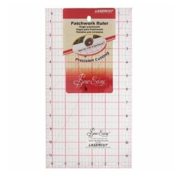 Sew Easy - Acrylic Patchwork/Quilting Ruler - 12 x 6.5in