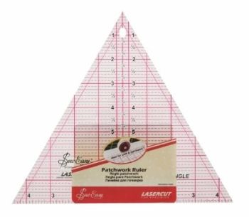 Sew Easy - Acrylic Patchwork/Quilting Ruler - Right Angle Triangle - 7.5in x 15.5in
