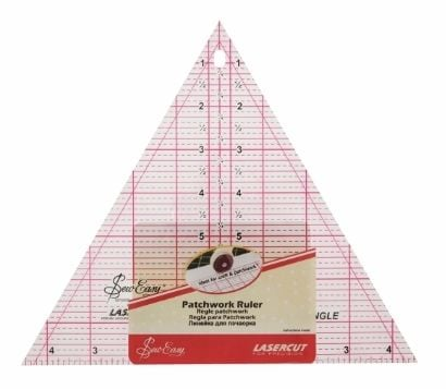 <!--   053-->Sew Easy - Acrylic Patchwork/Quilting Ruler - Right Angle Tri