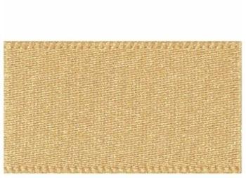 Berifords Double Satin Ribbon (3501) 7mm - Honey Gold 678, per metre
