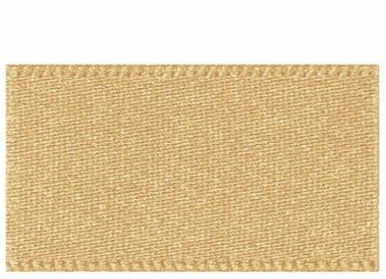 <!-- 201d --> Berifords Double Satin Ribbon (3501) 7mm - Honey Gold 678, pe