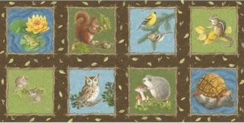 Blank Quilting Corporation - Natures Trail - Panel, per fat quarter