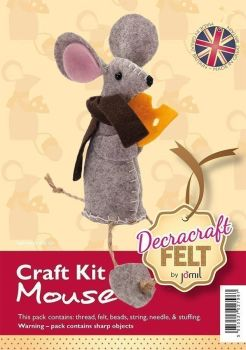 Decracraft - Felt Craft Kit - Mouse with Cheese