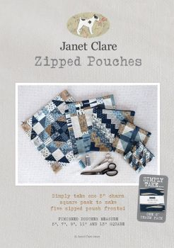 Janet Clare - Zipped Pouches Pattern