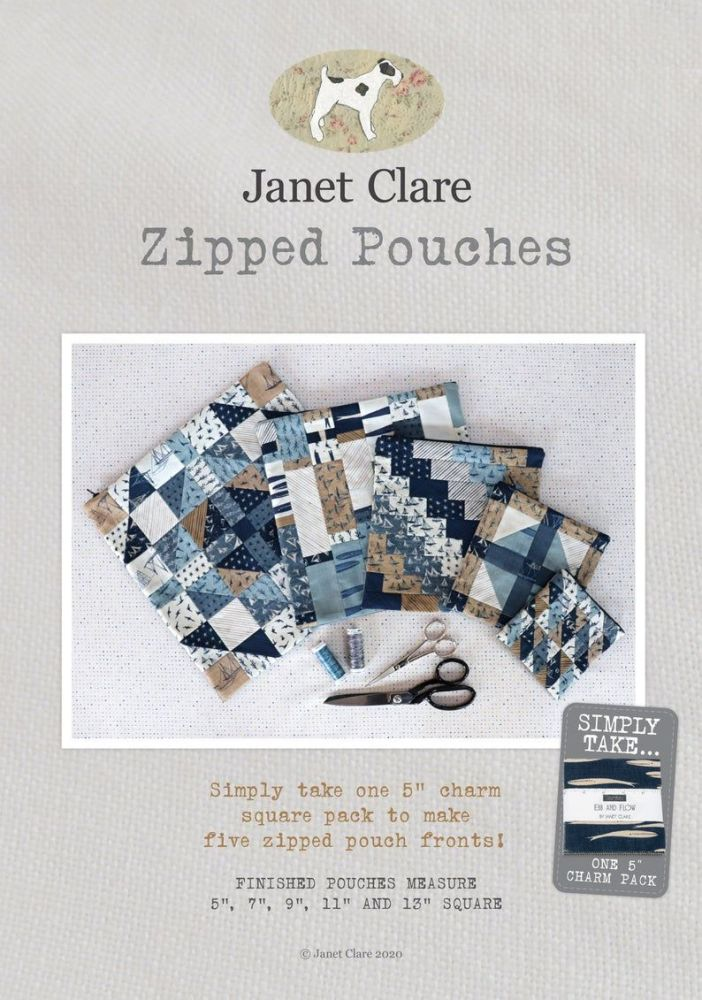 <!-- 751 -->Janet Clare - Zipped Pouches Pattern