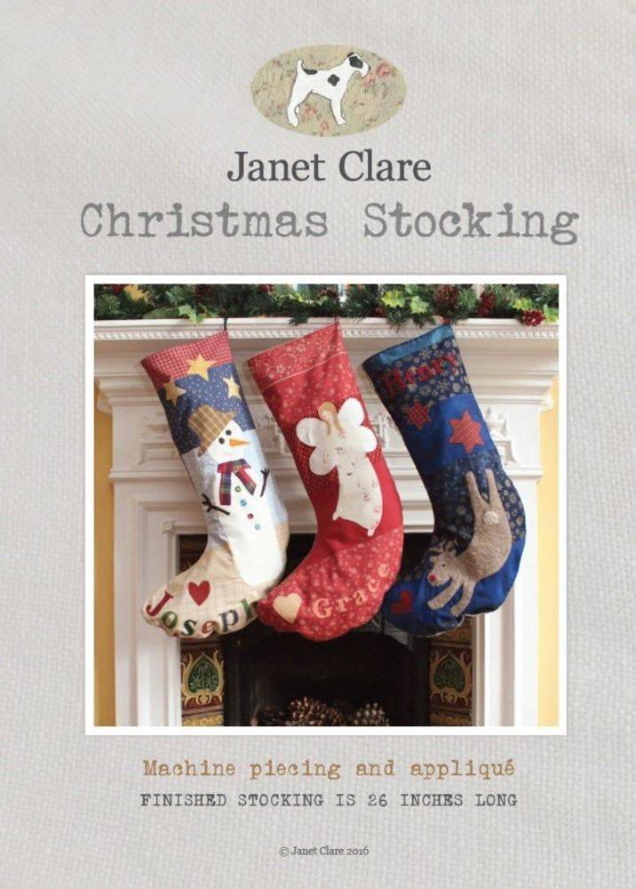 <!-- 752 -->Janet Clare - Christmas Stocking Pattern