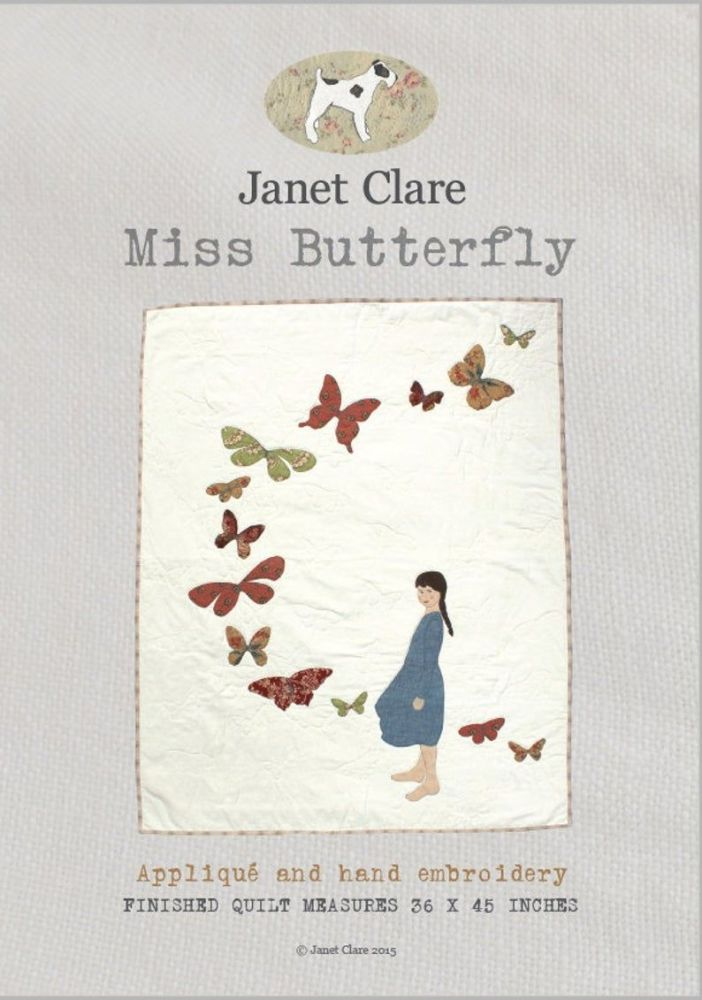 <!-- 753 -->Janet Clare - Miss Butterfly Quilt Pattern