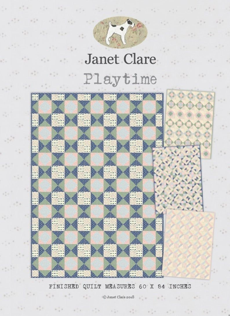 <!-- 754 -->Janet Clare - Playtime Quilt Pattern