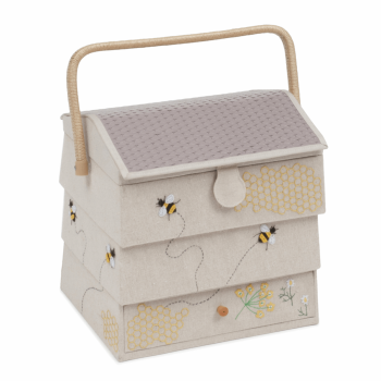 Hobby Gift - Embroidered/Applique Bees - XL Beehive Sewing Box