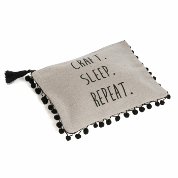 Hobby Gift - Craft, Sleep, Repeat - Project pouch