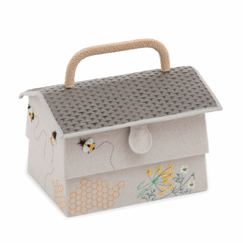 Hobby Gift - Embroidered/Applique Bees - Beehive Sewing Box