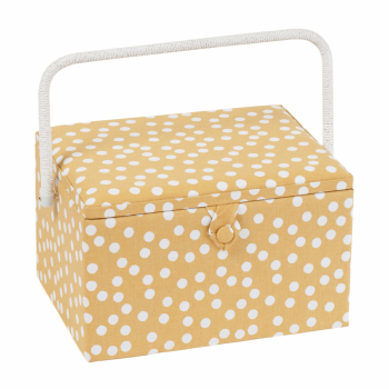 Hobby Gift - Ochre Spot - Large Sewing Box