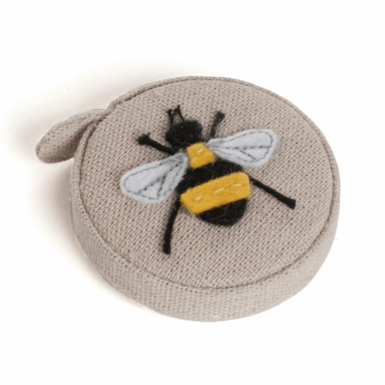 Hobby Gift - Embroidered/Applique Bees - Tape Measure