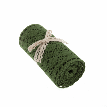 Cotton Lace Roll - Green