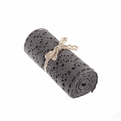 <!-- 400 --> Cotton Lace Roll - gREY