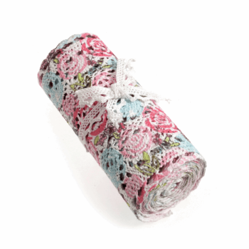 Cotton Lace Roll - Rose Print