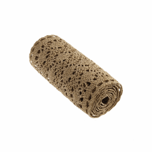 <!-- 408 --> Cotton Metallic Lace Roll - Gold