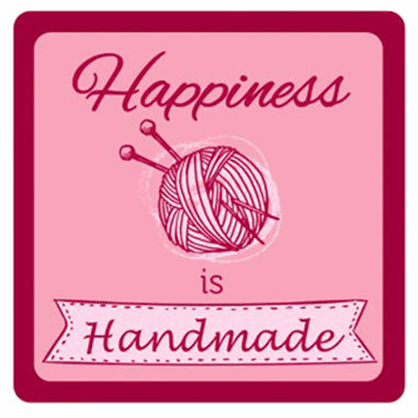 Sewing Themed Coaster - 'Happiness is Handmade'
