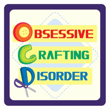 <!--9910--> Sewing Themed Coaster - 'Obsessive Crafting Disorder'