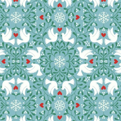 <!--9061-->Lewis & Irene - Hygge Glow - Scandi Dove on Icy Blue (with glow