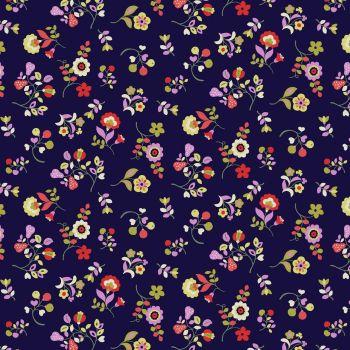 Dashwood Studios - Kaleidoscope Ace Cotton Lawn EXTRA WIDE - 1819(NAVY), per fat quarter