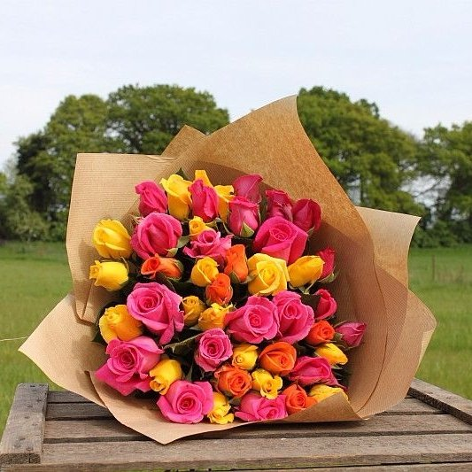 Bright Rose Bouquet - Small