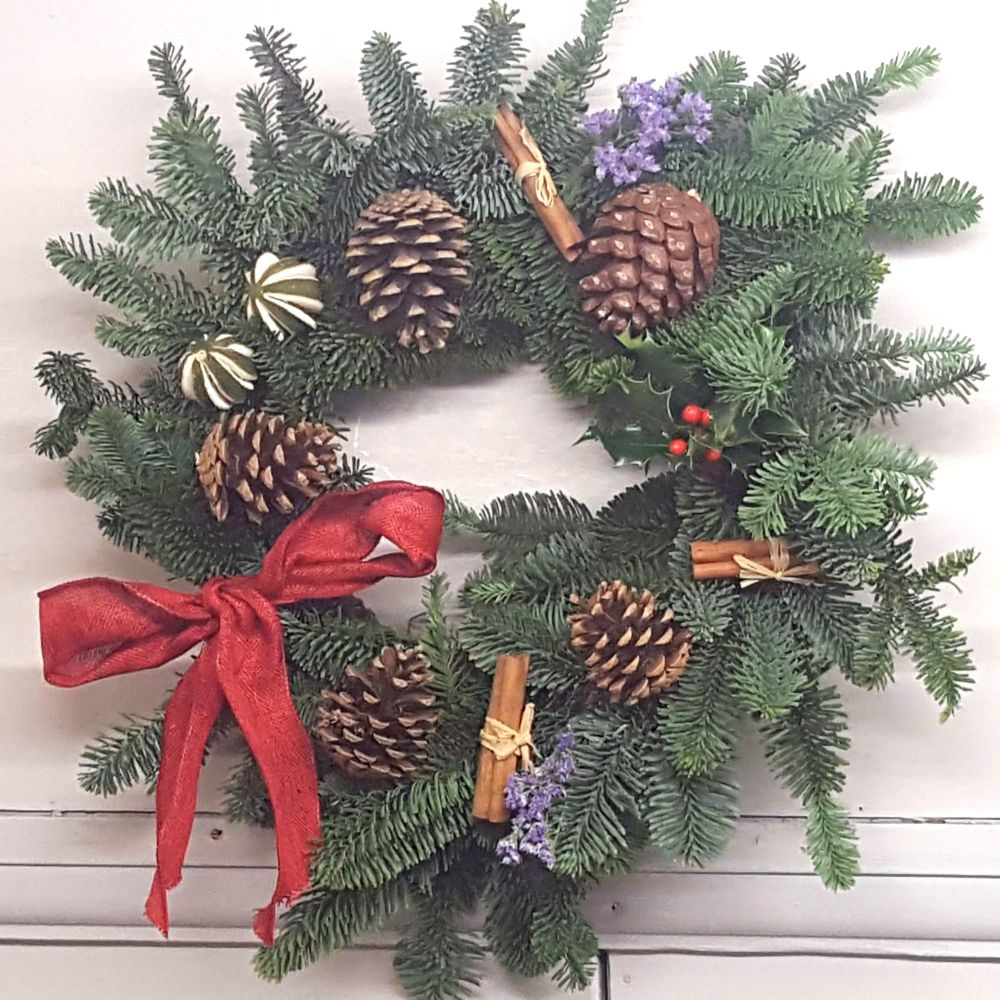 Lavender and Blue Spruce Wreath