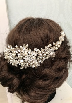 Chantelle Back vine headpiece.