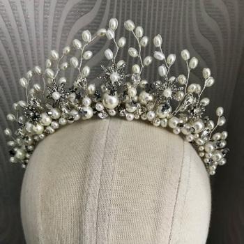 Pearly starry night sky tiara.
