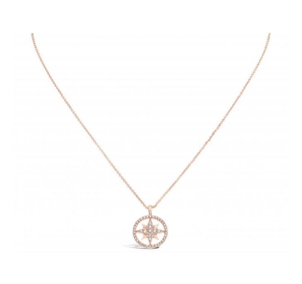Cubic Zirconia set star necklace.