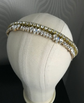 Set Of Two Gold Stacking Headbands.